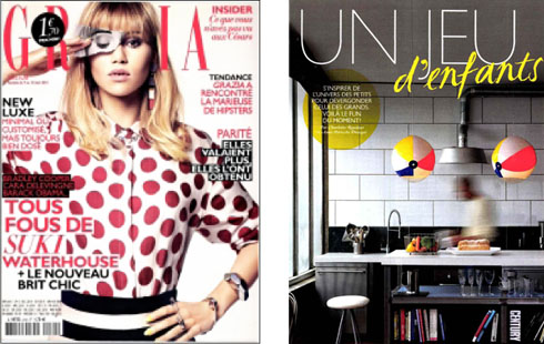 Grazia Front Cover BeachBallLighs